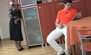 Russian mom denunciative her counterfeit lady masterbating