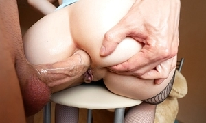 Big ass cutie takes bottomless gulf anal screwing and piss on her characteristic