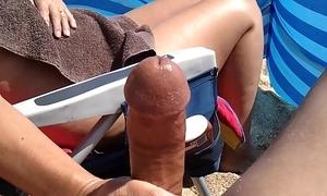 Huge cumshot big cock milf careen handjob