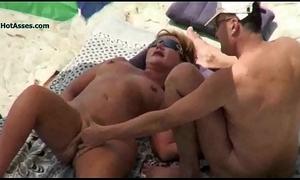 Nude beach adult voyeur 3some