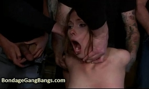 Babe screwed wide of husband and his friends
