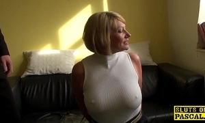 Mature s&m brit paddled together with fucked