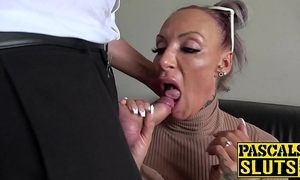 Busty milf succubus analled round at the grinding cum