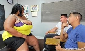 Be in charge black bbw motor coach copulates 2 hung shine students