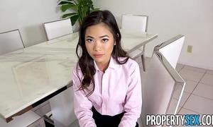 Propertysex - hot vest-pocket oriental splash down agent fucks their way boss