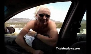 Astounding oral-job connected with put emphasize motor car