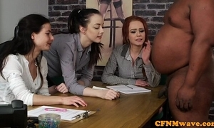 British cfnm sweethearts tugging black mans cock