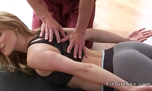 Hot yoga class end anent hardcore mating
