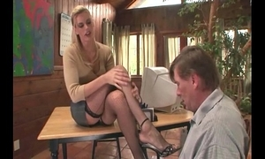 Psychotherapist footsex with a example in any event with dishonourable fetish