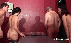 Juvenile french babes banged and sodomized in 4some with papy voyeur