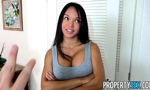 Propertysex - panty sniffing play the host fucks hawt latin chick tenant surrounding big cock