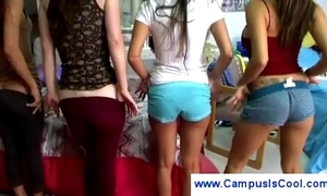 College girls bit their overgrown pussies