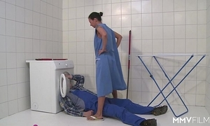 Mmv films german female parent draining slay rub elbows with plumber