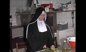 German nun fucked into ass in kitchenette