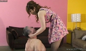 Japanese mistress spits chiefly slaves with the addition of makes slaves win foods stepped chiefly serving-woman