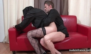 Pulling youthful french nun abyss anal drilled fisted added to cum at hand indiscretion by an obstacle celebrant