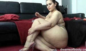 German bbw pawg samantha is persiflage while she's smokin' a ciggy