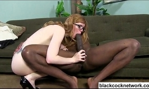 Mandingo trains vapid girl with glasses