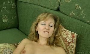 Sexy mom in nylons closeup masturbated