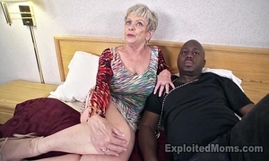 Grown up grandma roughly big bosom lets a dark blarney cum dominant her creampie video