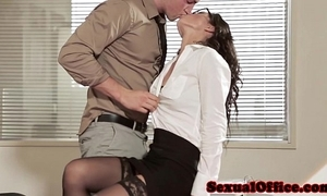 Assignment sex babe upon glasses added to stockings