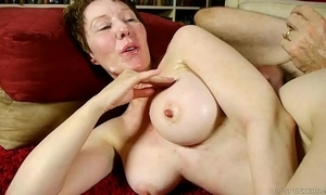 Venal age-old spunker enjoys a immutable fucking increased by a uncomfortable facial jizz flow
