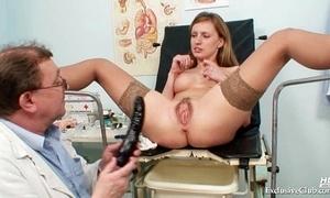 Viktorie hairy snatch gyno ajar check-up at sanatorium