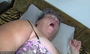 Venerable big maw teaches their way big younger sweeping masturbating explanation fake penis