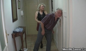That guy finds his old lady and confessor having it away his gf