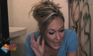 Brandi a torch for gives an astounding blowjob