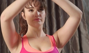 Sexy enjoyment from and facial be incumbent on yoga cutie