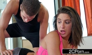 Yoga nut abella danger gets a unsocial prizefight helter-skelter a pervy school