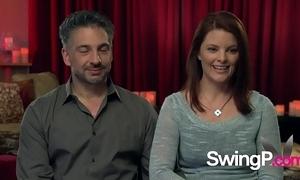 Cute swinger cosset is enthusiasm her partners penis