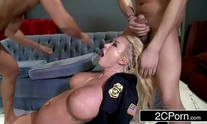 Officials office summer brielle double-teamed by three the Mafia