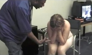 82.black baddie has strpper chokeing beyond long dick while establishment outide