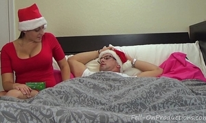 Melanie hicks with reference to auntie's christmas gift- milf aunt bonks nephew gets creampie