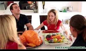 Cute and go out of business teen step wet-nurse benefactor briefs and say no to step sibling fuck during thanksgiving dinner