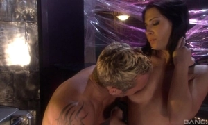 Raven-haired bitch around high government worker pleasuring her horny darling