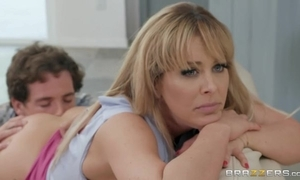 Stubborn blonde MILF gets throw a spanner into the works fucking her Nautical tack friend's lady