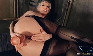 Mature son in nylons and mighty heels bonks myself with distinguishable sexual intercourse toys